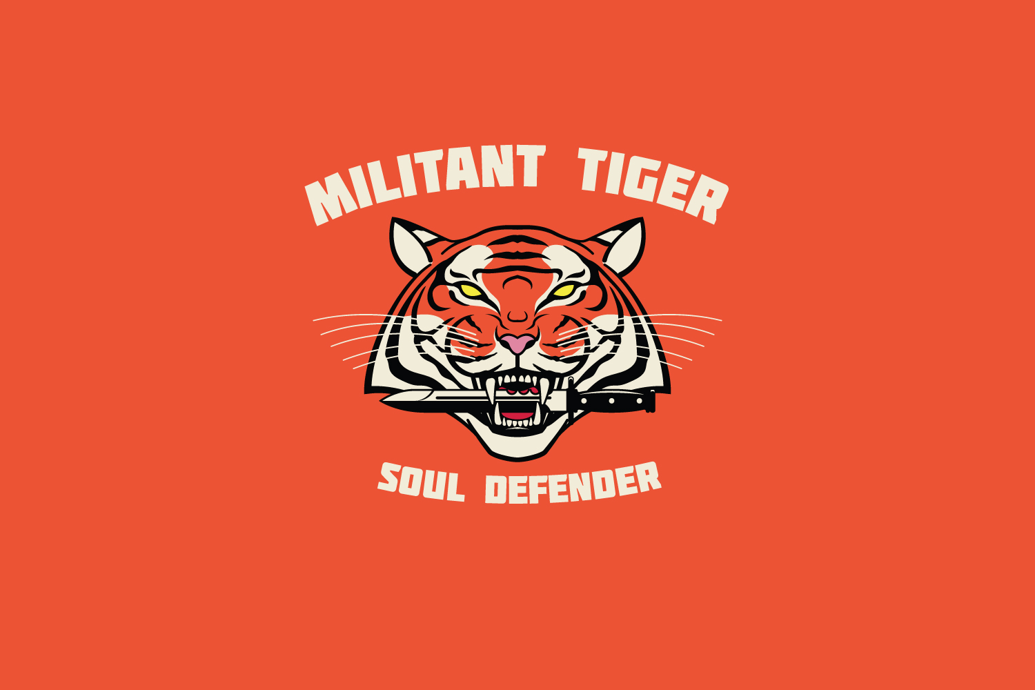 Militant Tiger Logo Template example image 1