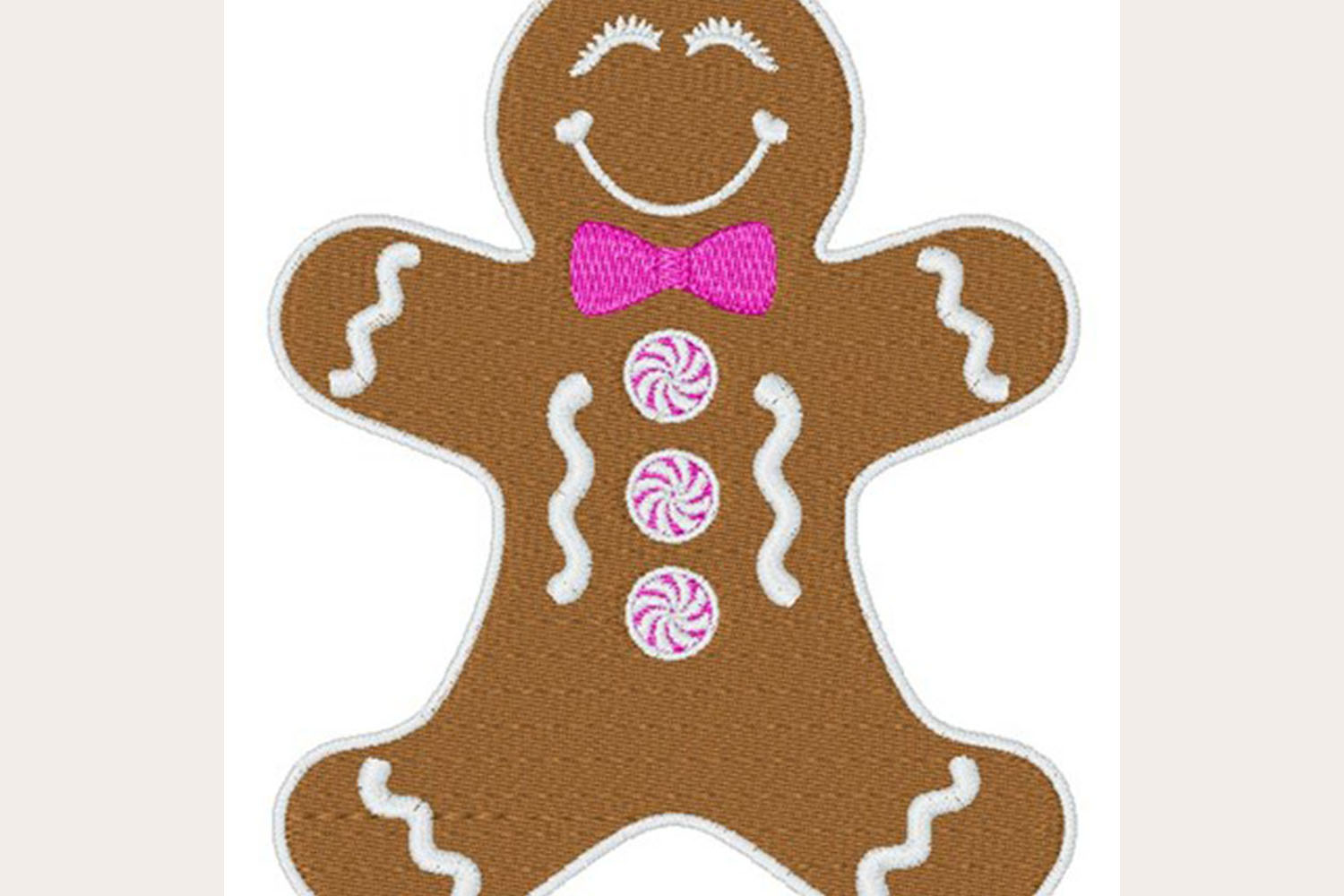 Gingerbread Man - Machine Embroidery Design example image 1