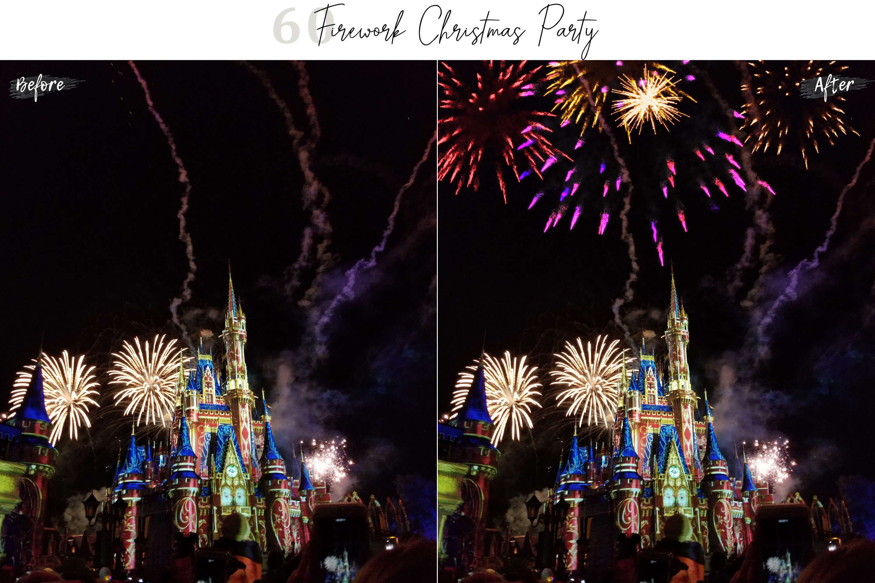 60 Firework Christmas Party Overlays example image 5
