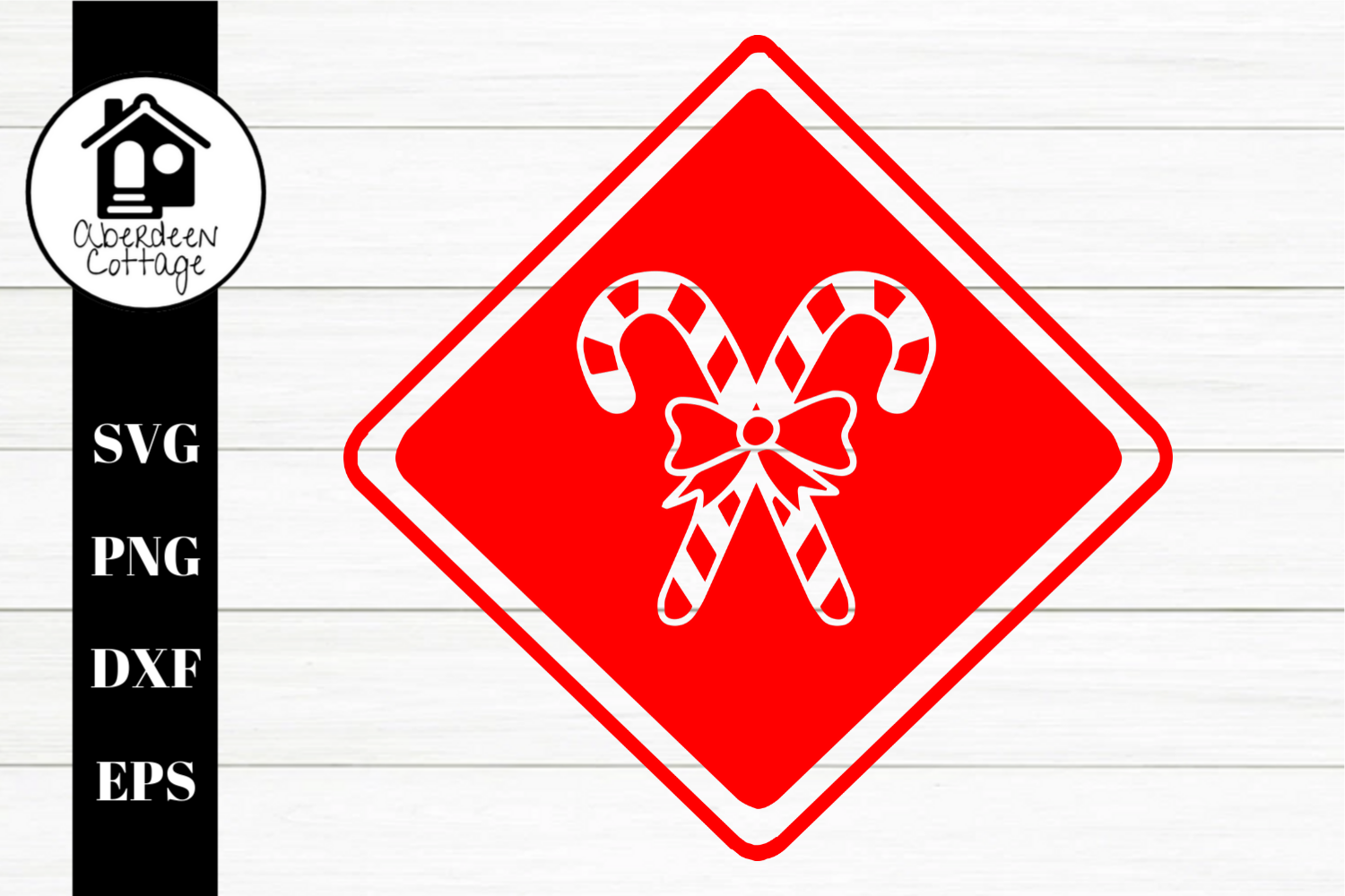 Candy Cane Cut Out SVG| PNG | EPS | DXF example image 1