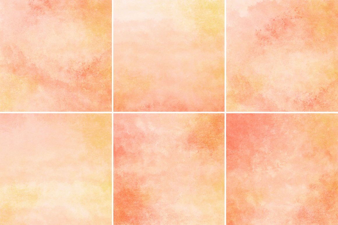 Peach and Orange Watercolor Texture Backgrounds example image 3