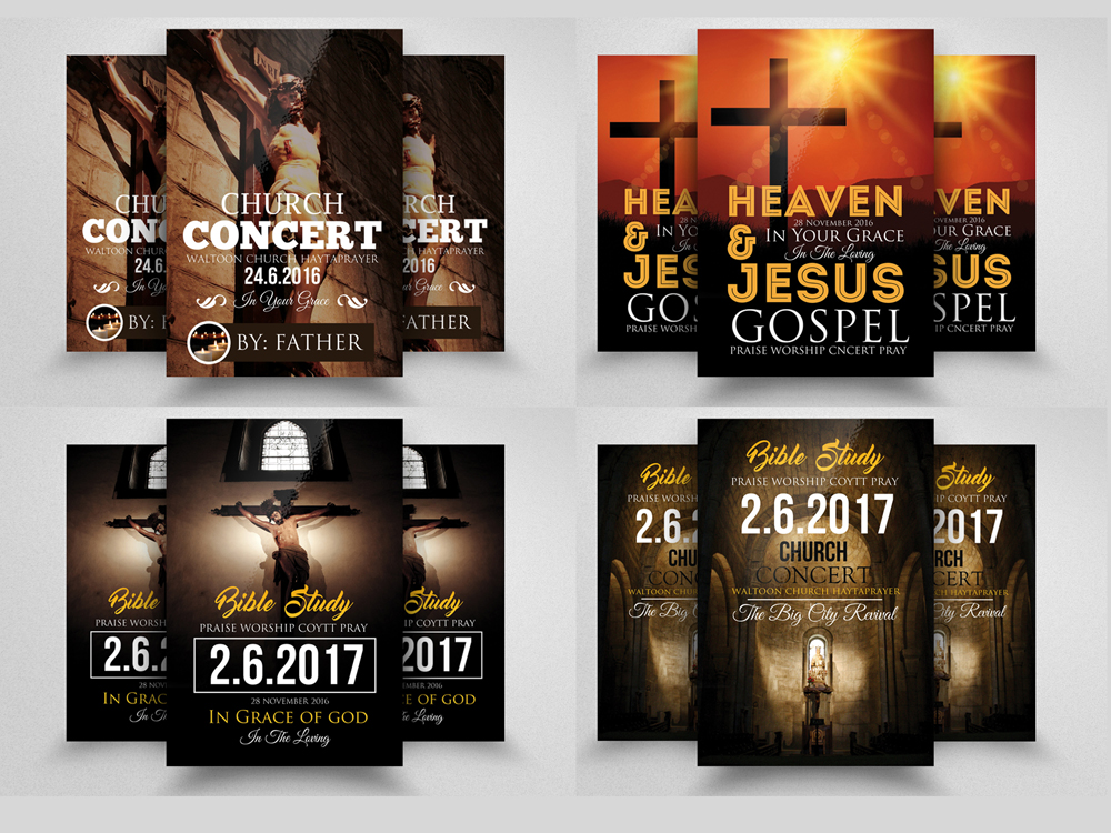 10 Glory and Praise Church Flyer Template Bundle example image 3