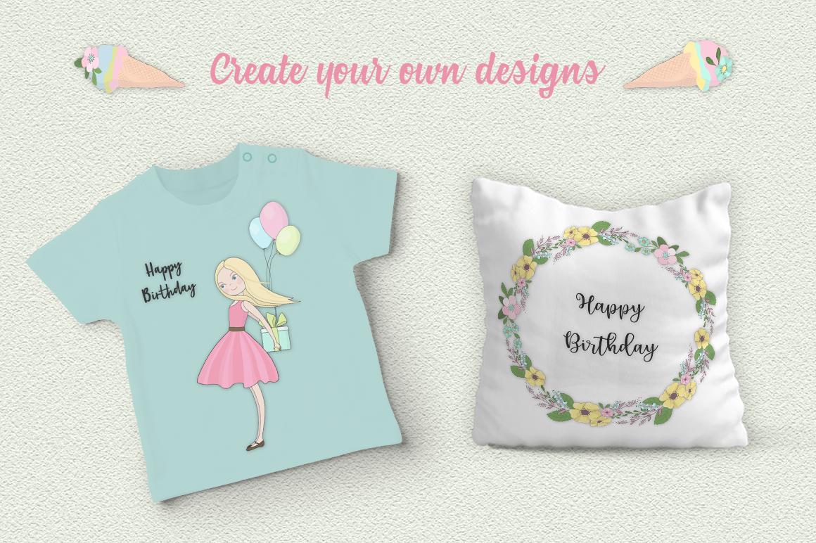 Happy Birthday Illustration Set example image 5