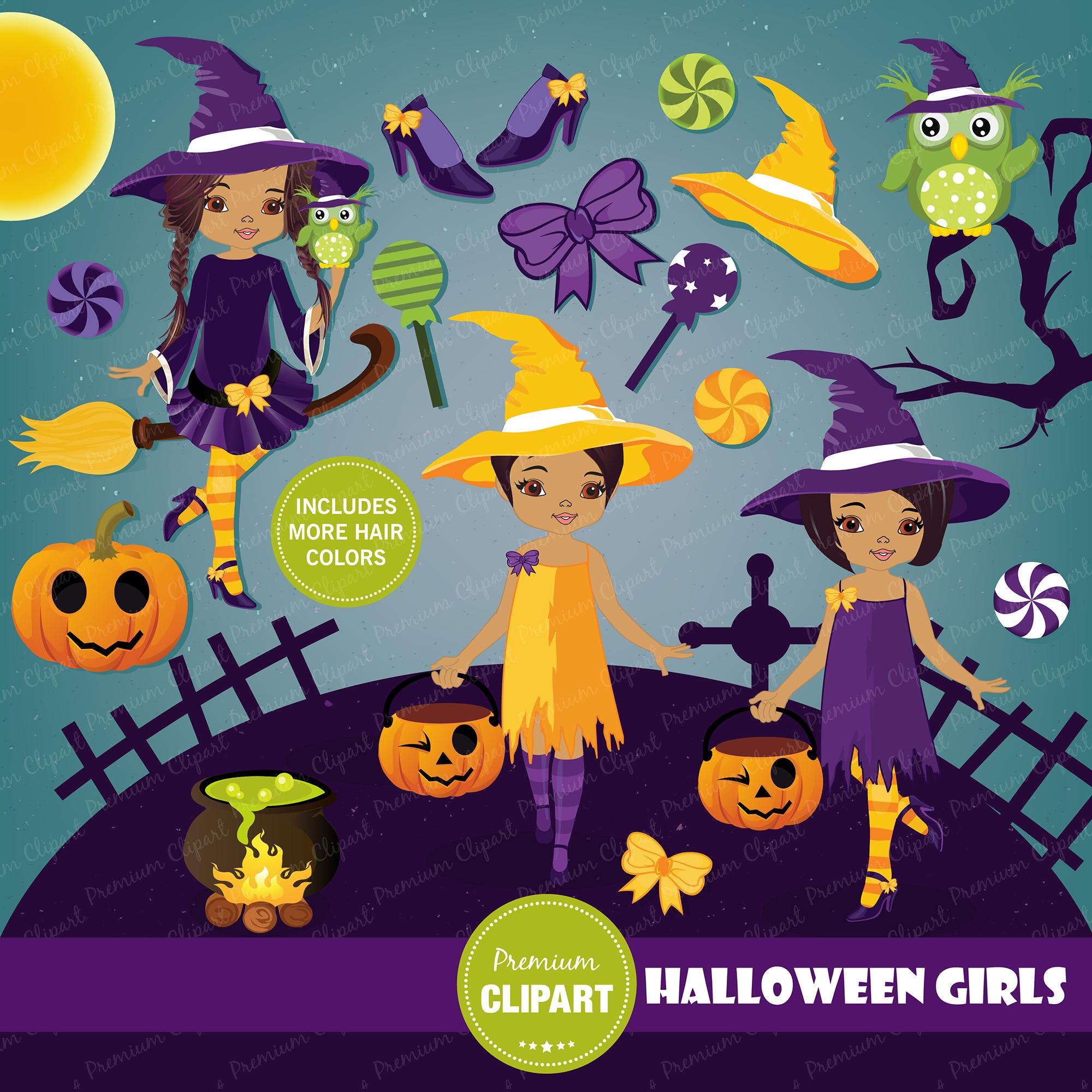 Halloween bundle, Halloween illustrations example image 10