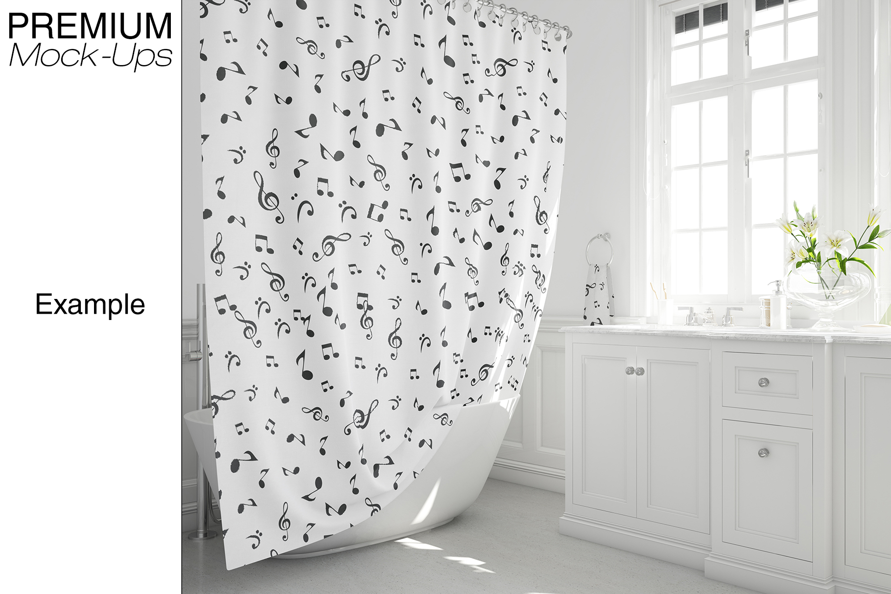 Bath Curtain Mockup Pack example image 9