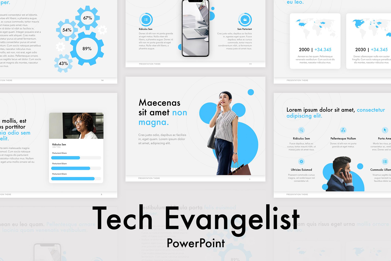 Tech Evangelist PowerPoint Template example image 1