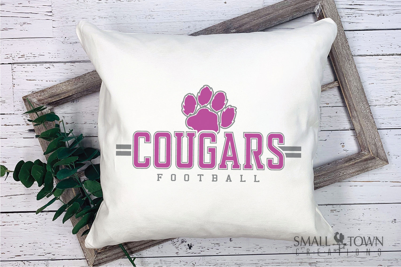 Cougar Football, Paw Print, Team, logo, PRINT, CUT & DESIGN example image 3