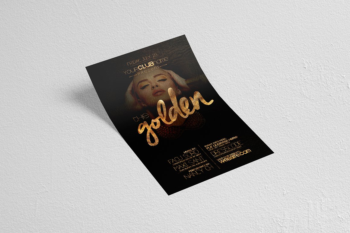 The Golden Flyer Template example image 3