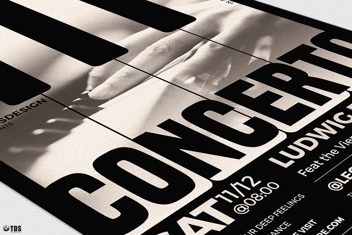 Piano Concerto Flyer Template V1 example image 6