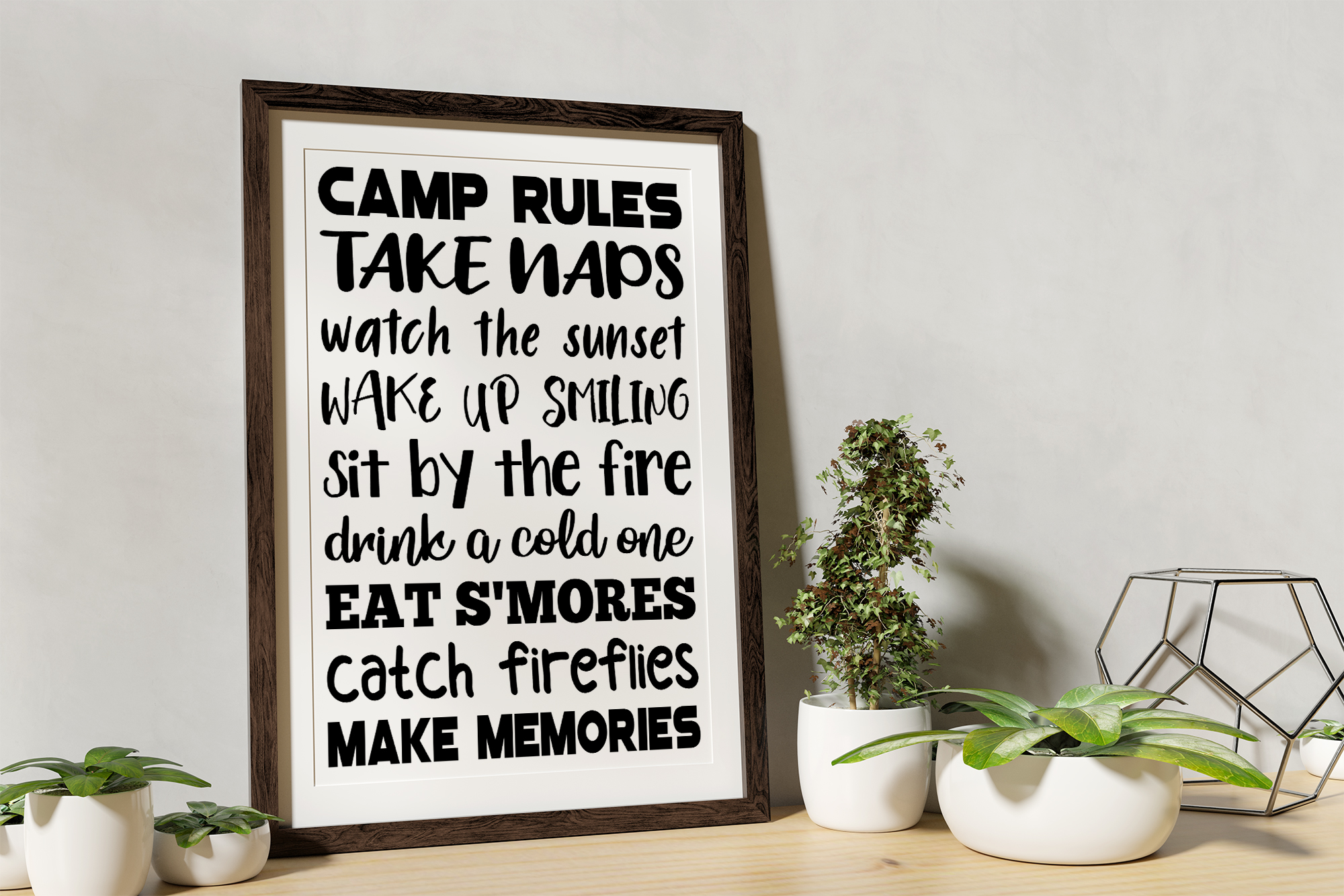 Camp Rules SVG EPS PNG Camping Rules SVG Camping Sign example image 2