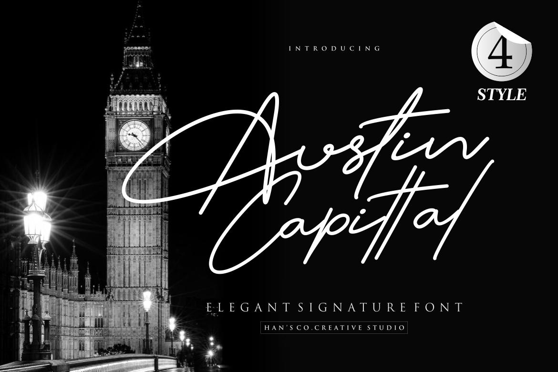Austin Signature Font example image 2