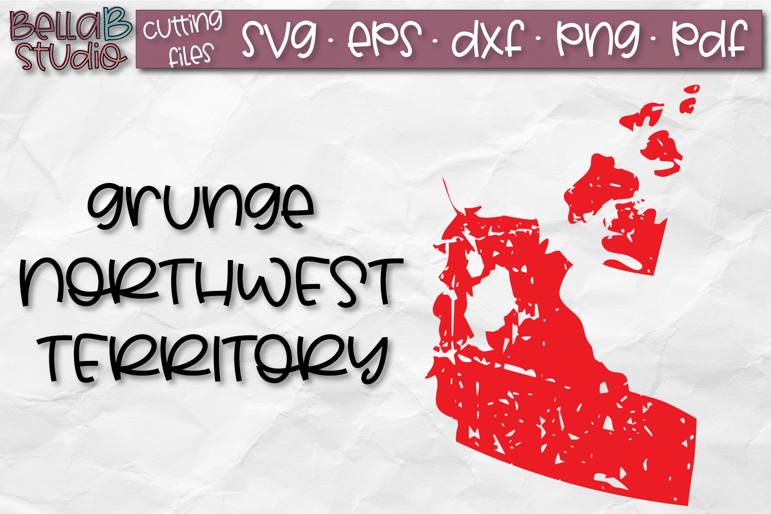 Northwest Territories SVG, Canada, Canadian SVG, Distressed example image 1