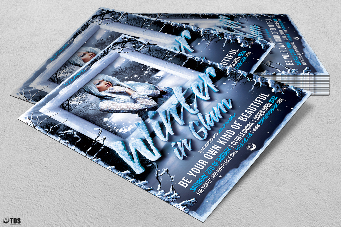 Winter Glam Flyer Template V1 example image 4