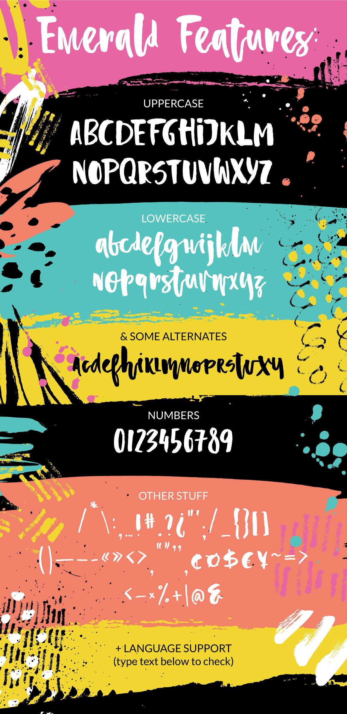 Emerald - playful brush font example image 8