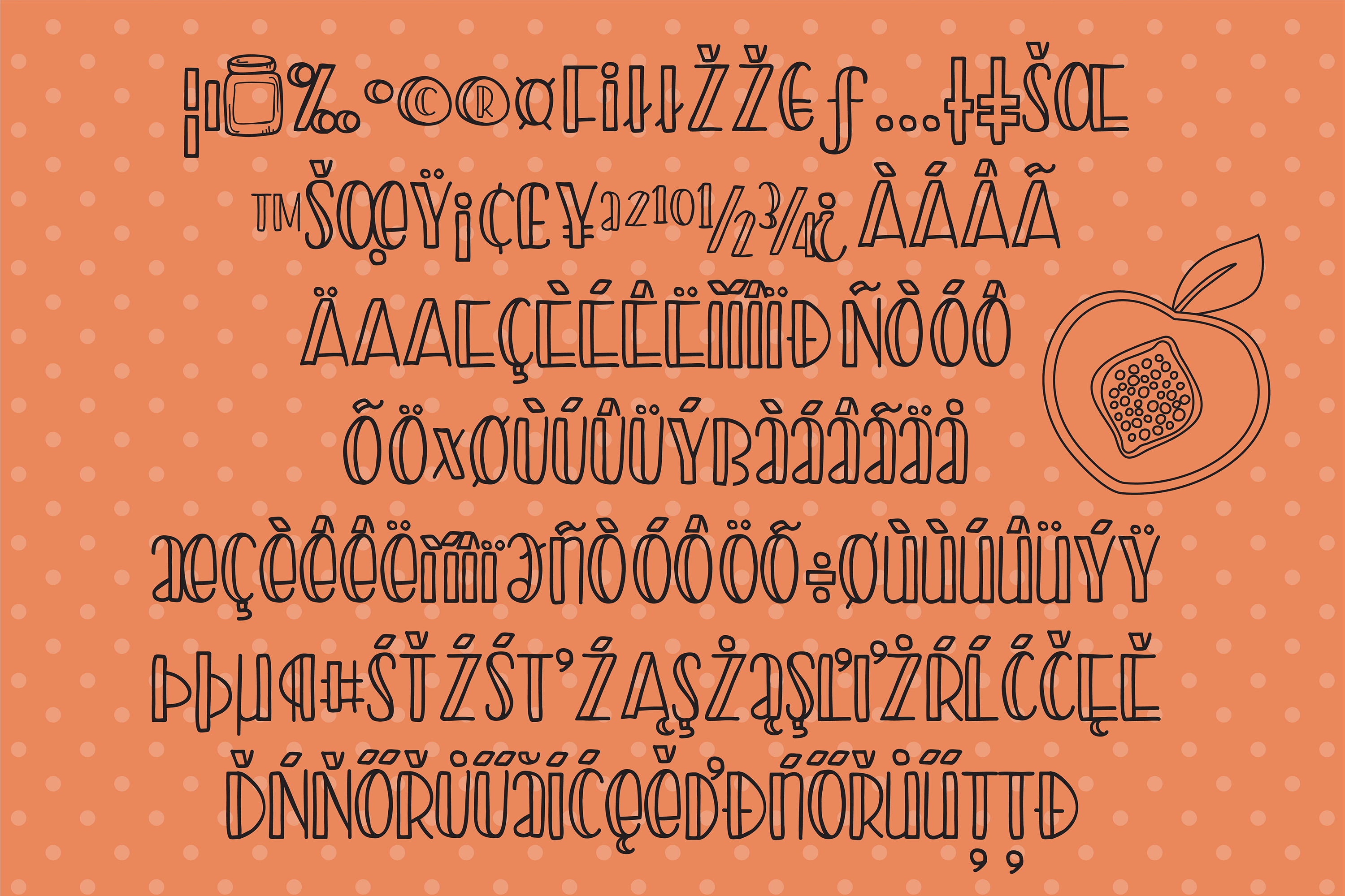 PN Peach Preserves Font Duo example image 4