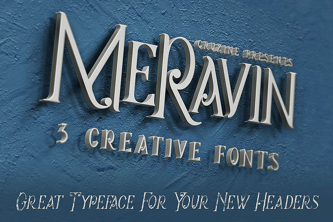 Meravin Typeface example image 2