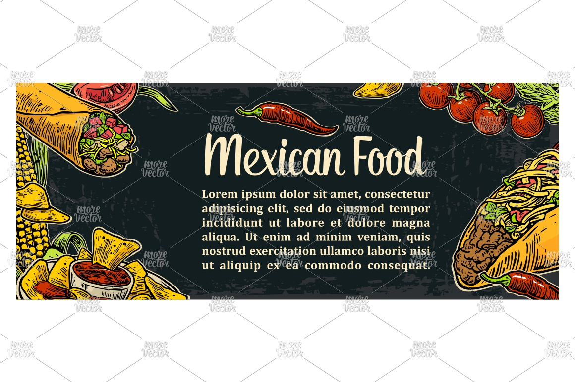 Mexican traditional food restaurant menu engraved example image 2