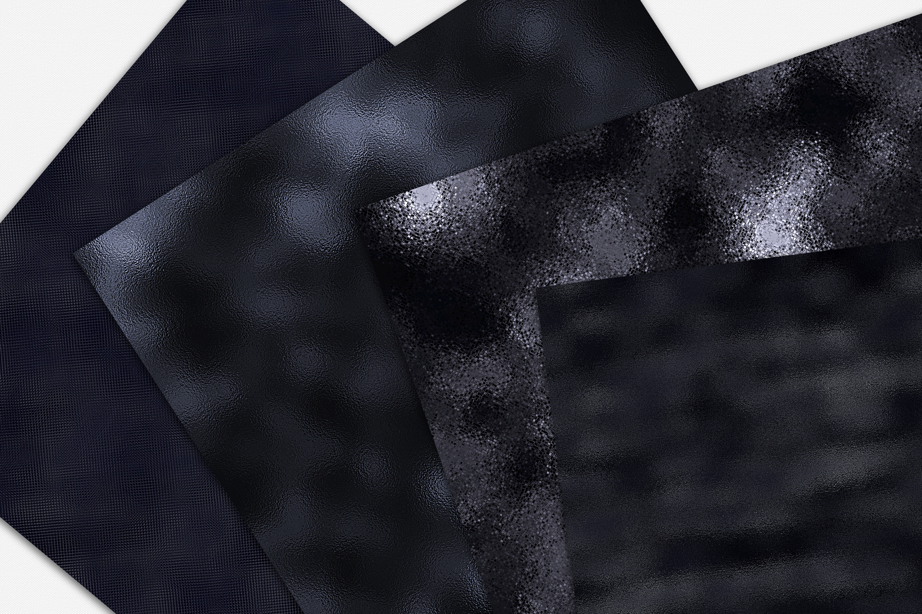 15 Black Metallic, Foil and Glitter Digital Papers example image 5
