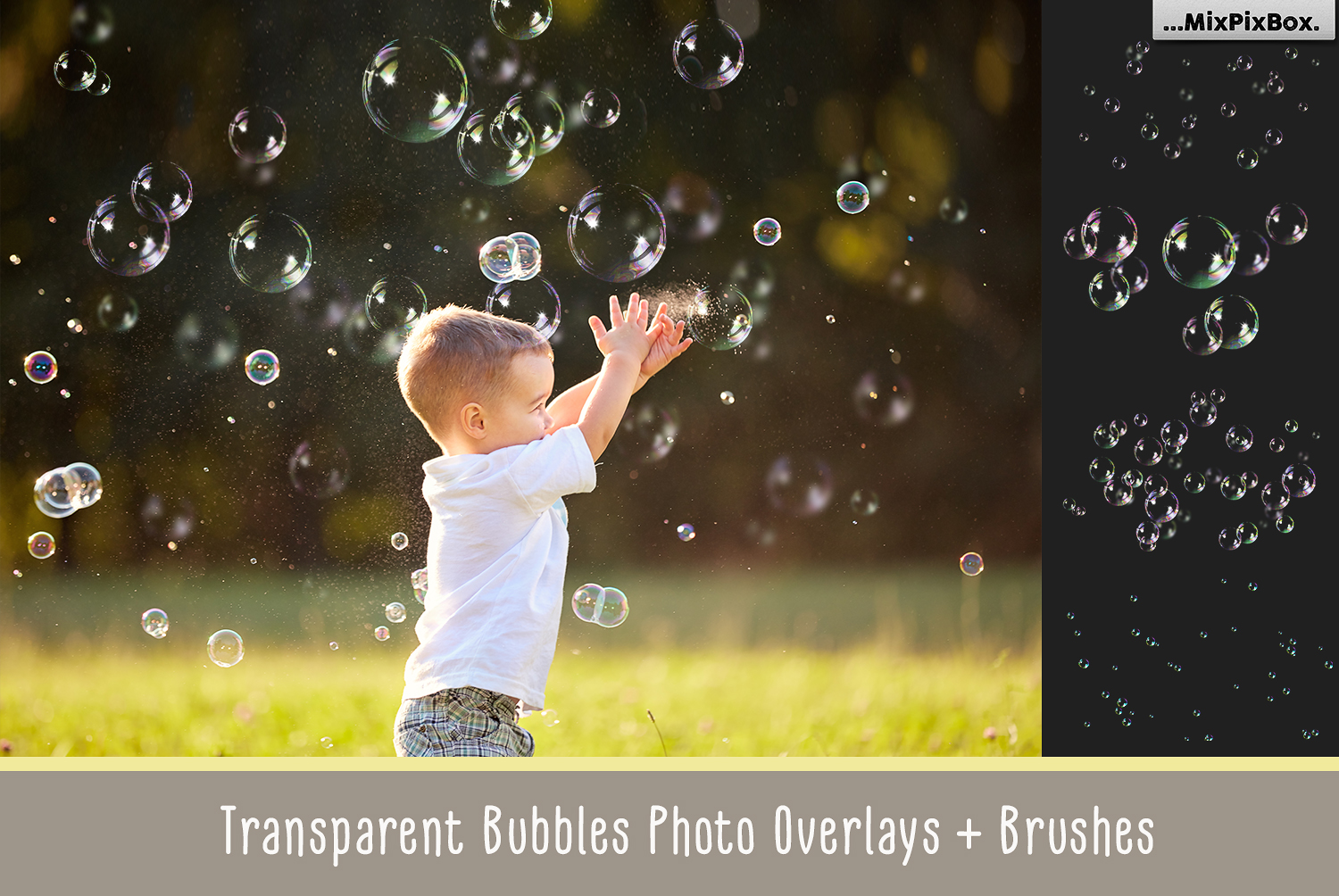 Transparent Bubble overlays  brushes  styles example image 1