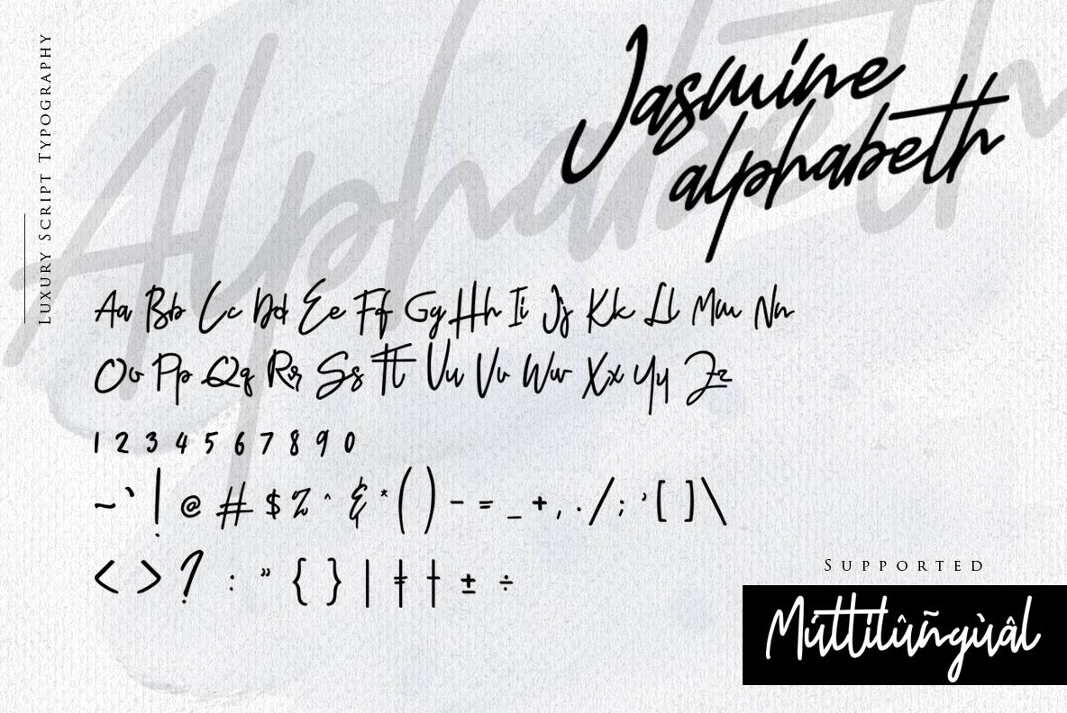 Jasmine Luxury Handwriting example image 13