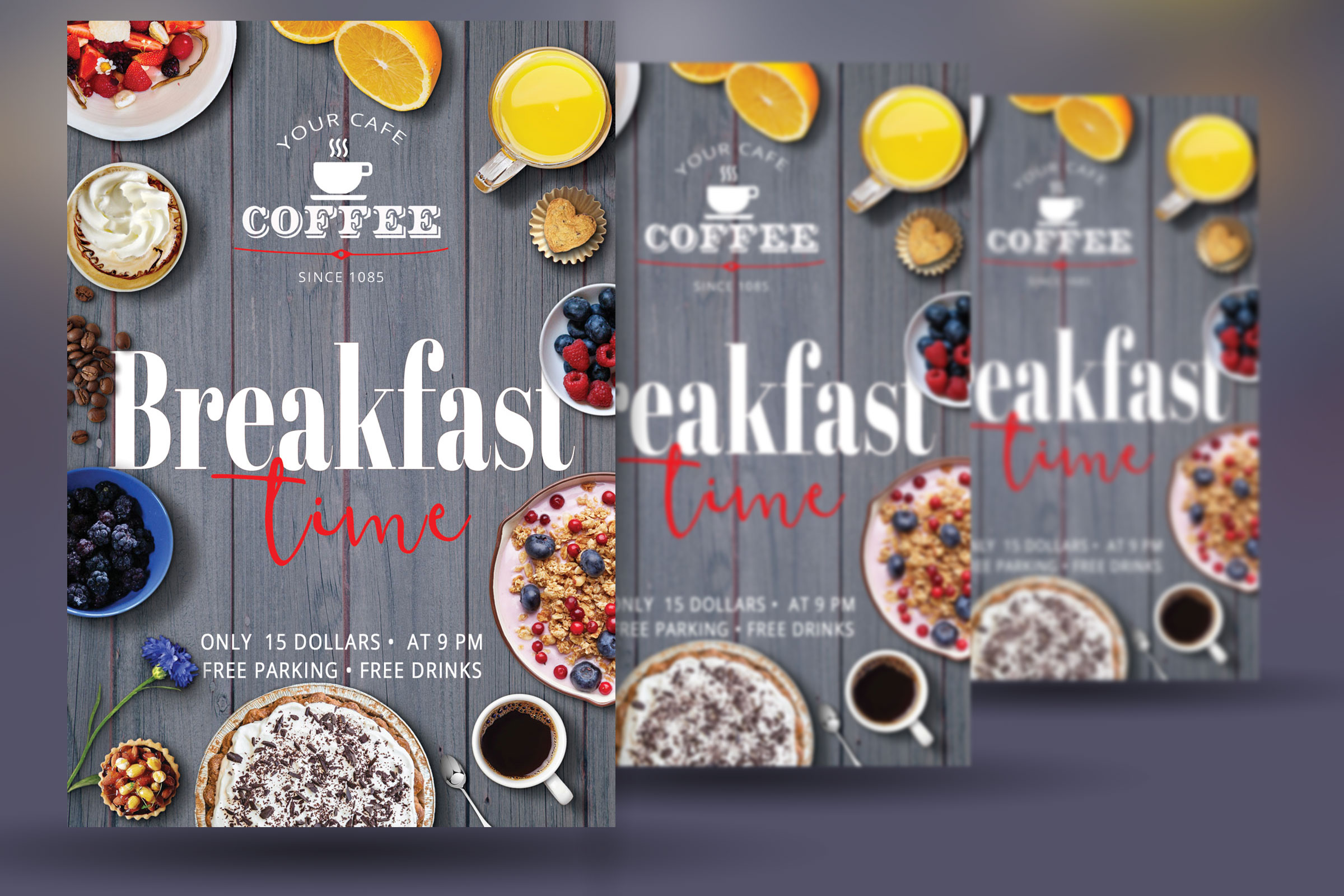 Breakfast Time Flyer example image 3
