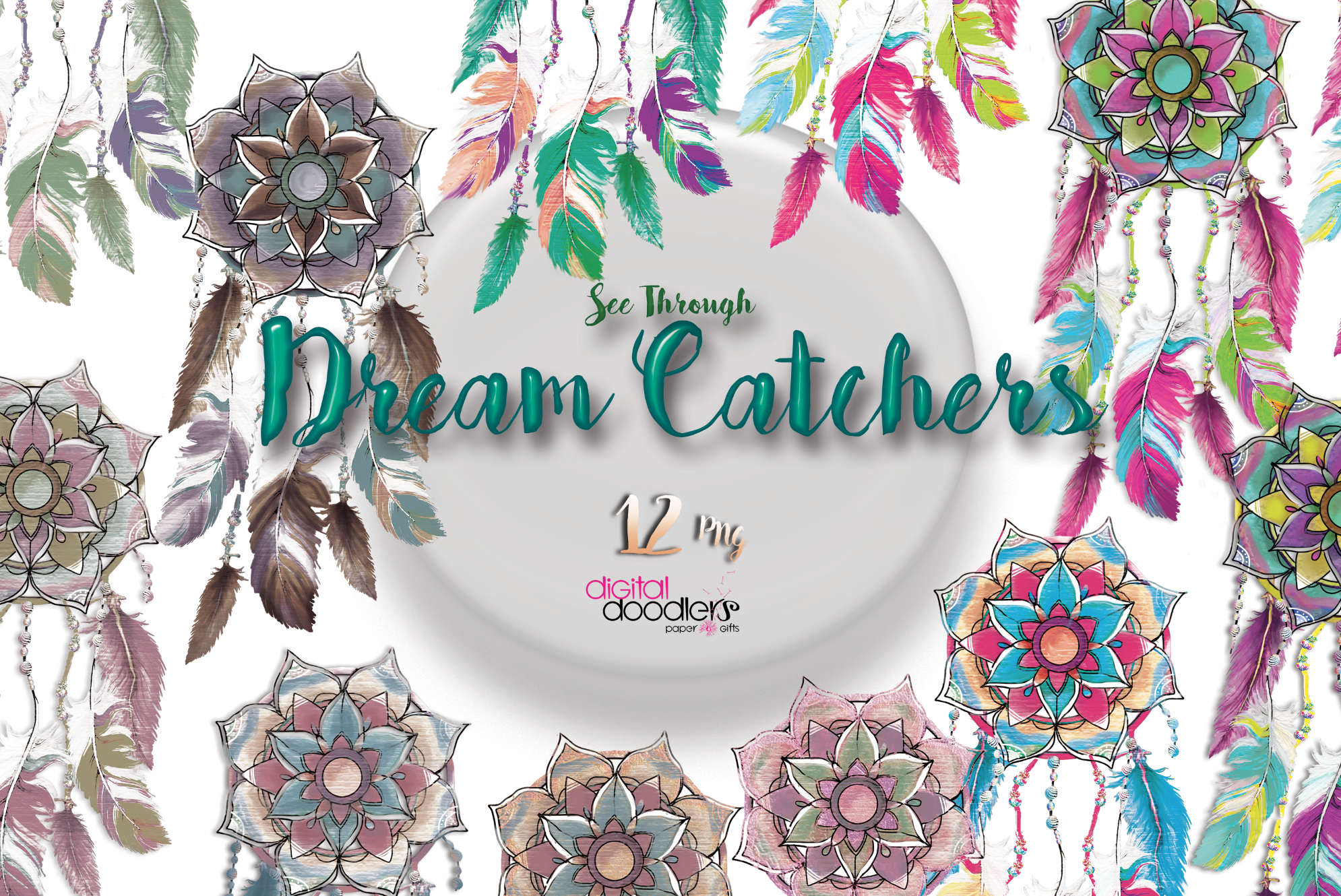 Mandala Inspired Dreamcatchers example image 2