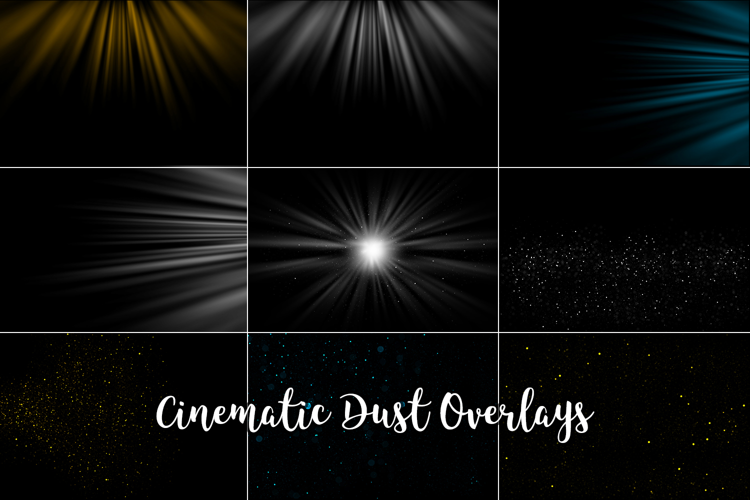 Cinematic Dust Photo Overlays, Bokeh Light Effects example image 4