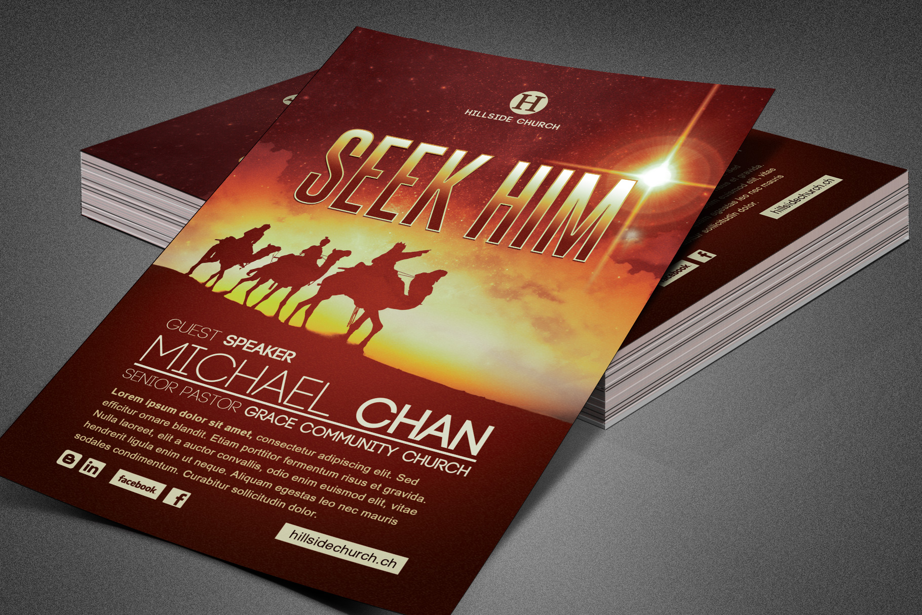 Seek Him Church Flyer Template example image 2