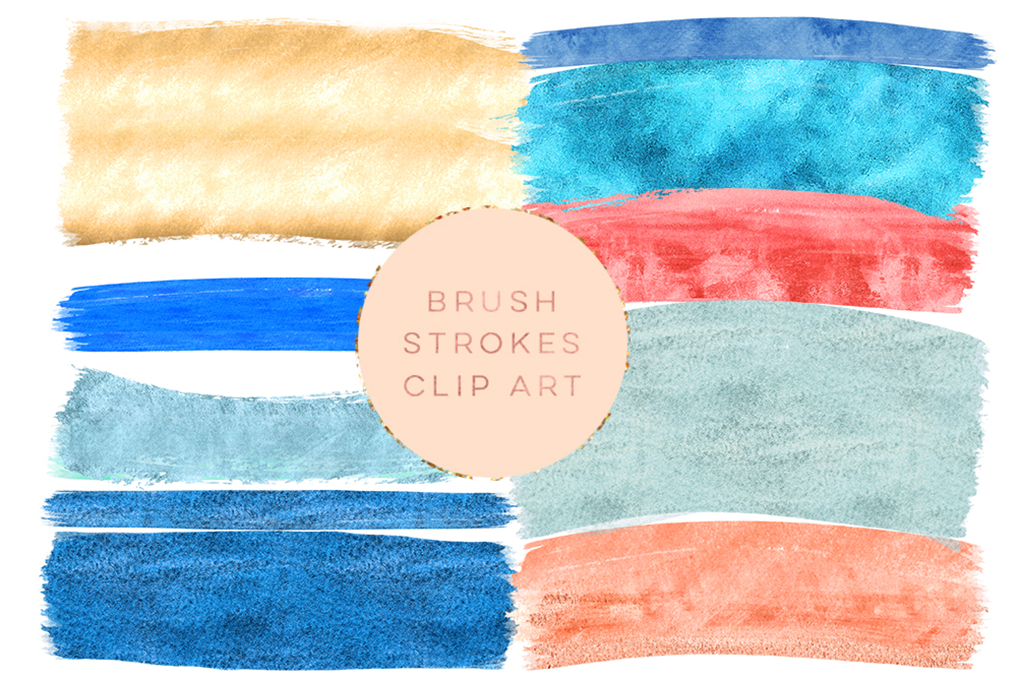 navy blue brush strokes, gold foil clipart brush strokes, paintbrush stroke, Glitter brush strokes, red, blue, yellow clip art, Graphic art example image 2