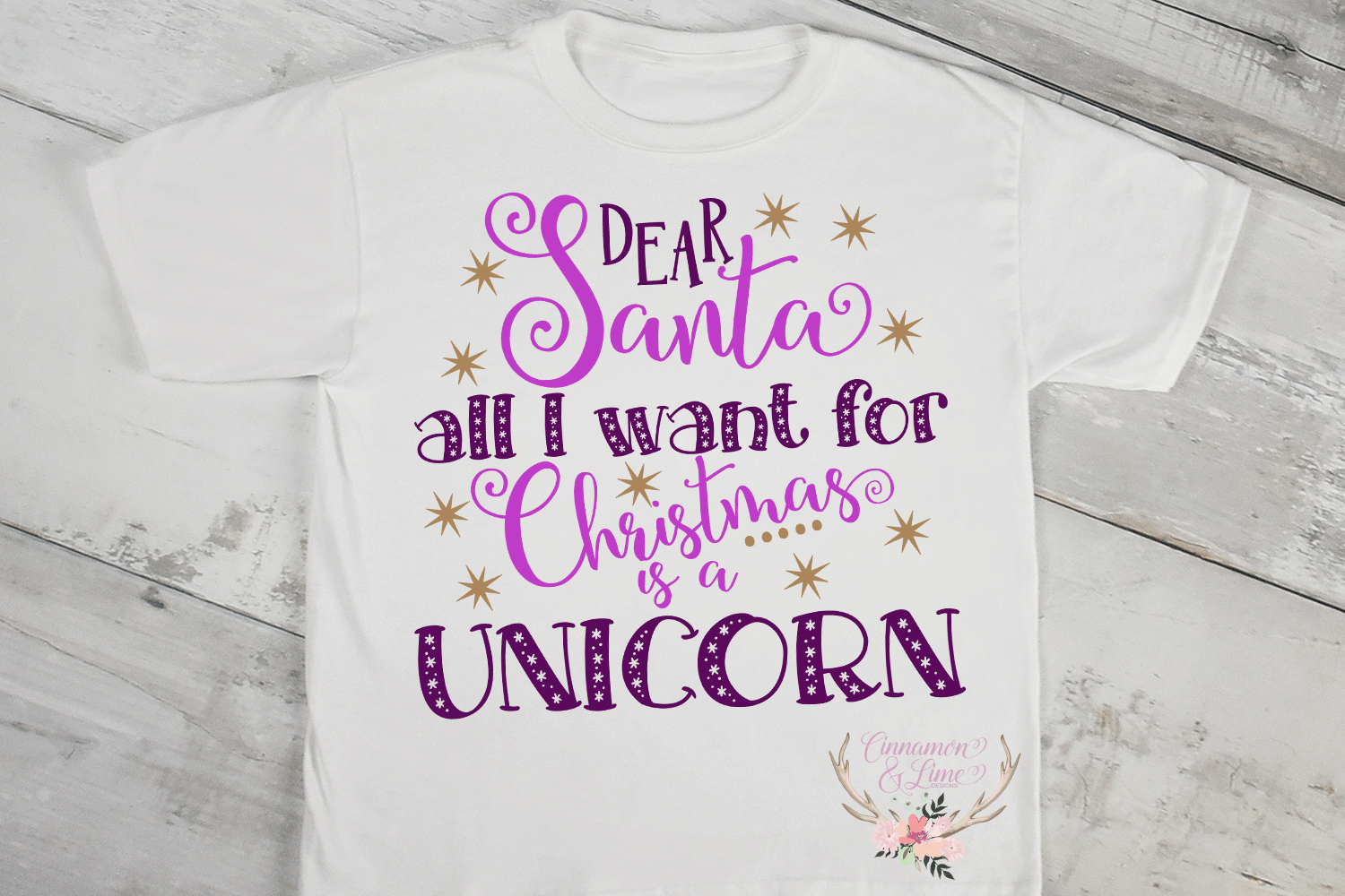 Christmas Svg - All I Want for Christmas is a Unicorn example image 2
