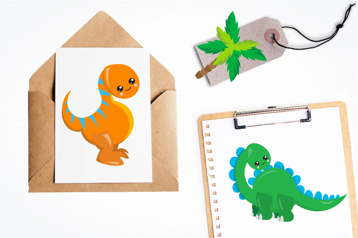 Party Dinosaurs graphics and illustrations example image 4