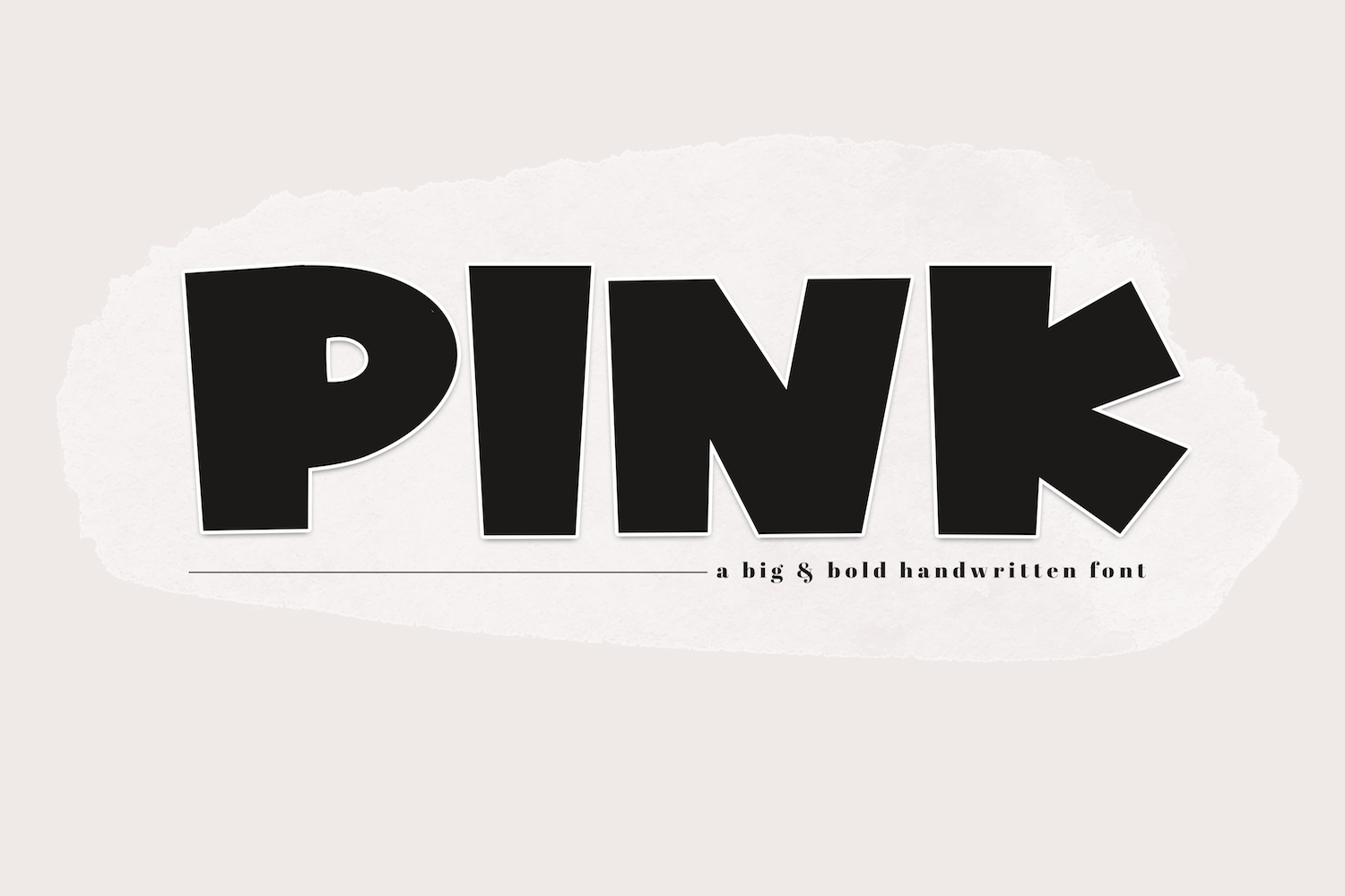 PINK - A Bold Handwritten Font example image 1