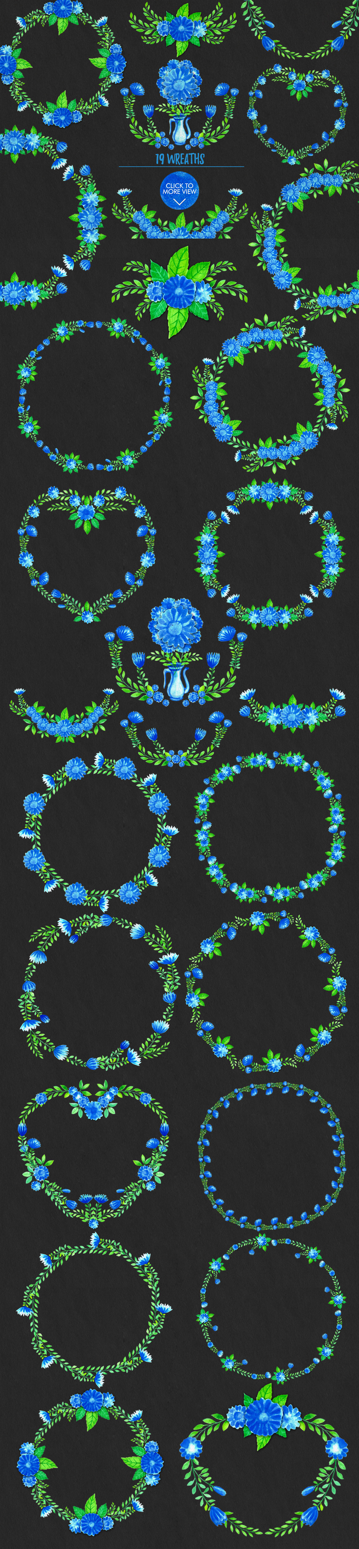 Simple Blue Floral example image 5