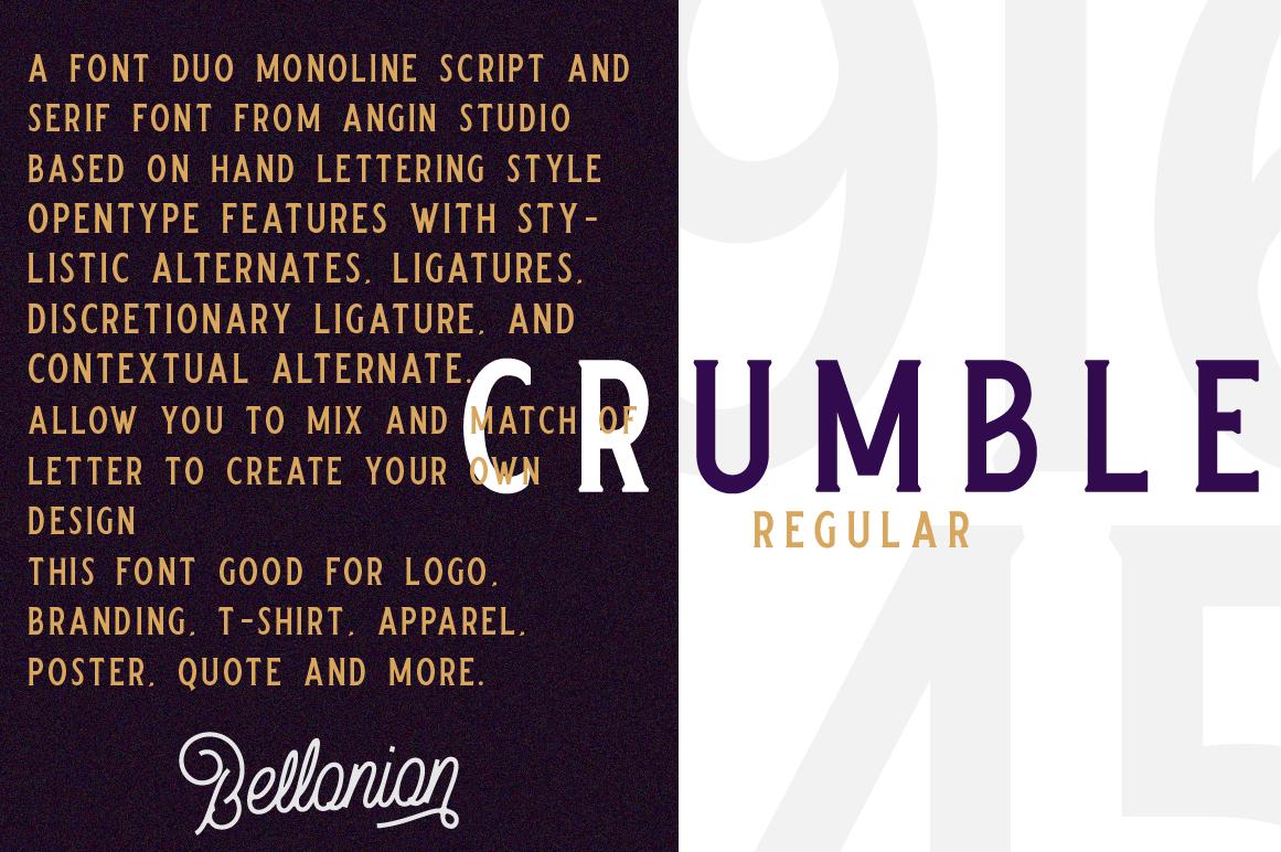 Bellonion Monoline Script example image 2