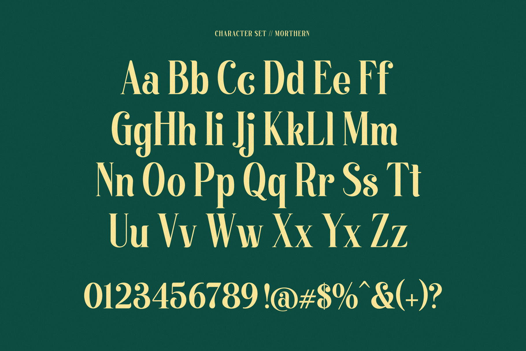 Morthern Font example image 14