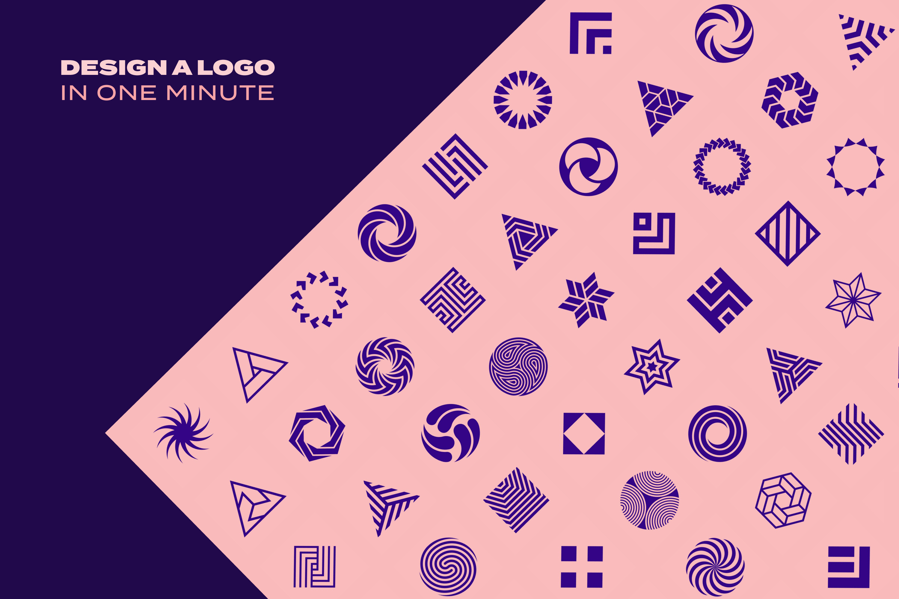 96 Geometric shapes & logo marks collection VOL.1 example image 10