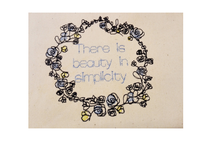 Doodle Floral Wreath monogram font border frame in 3 sizes example image 2