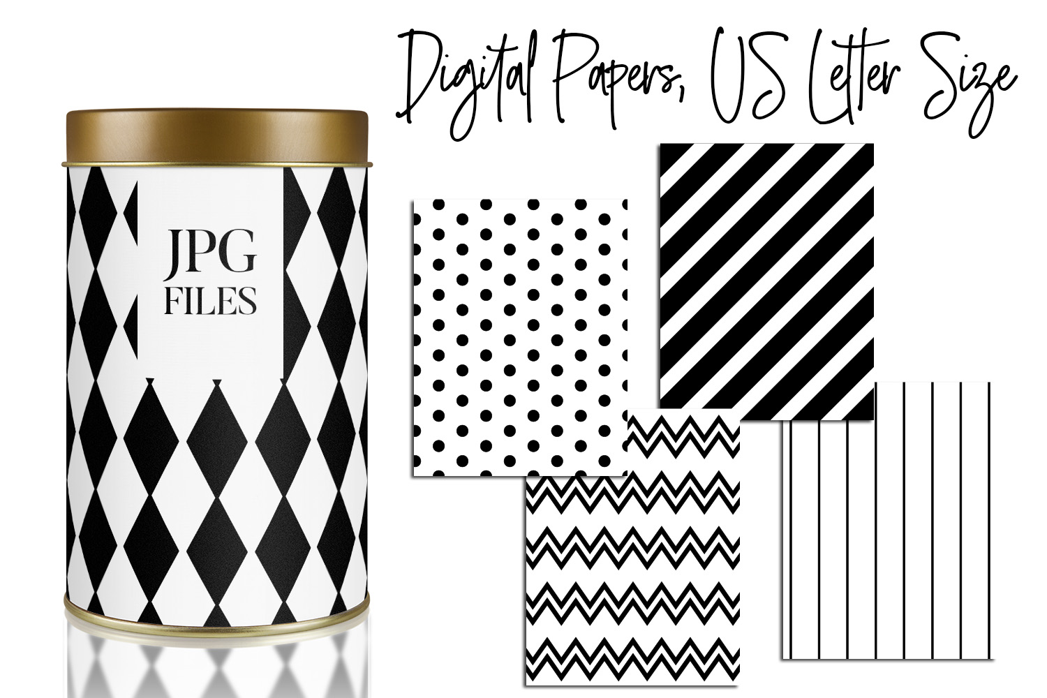 Digital Papers Bundle Vol. 2 - Background Patterns example image 6