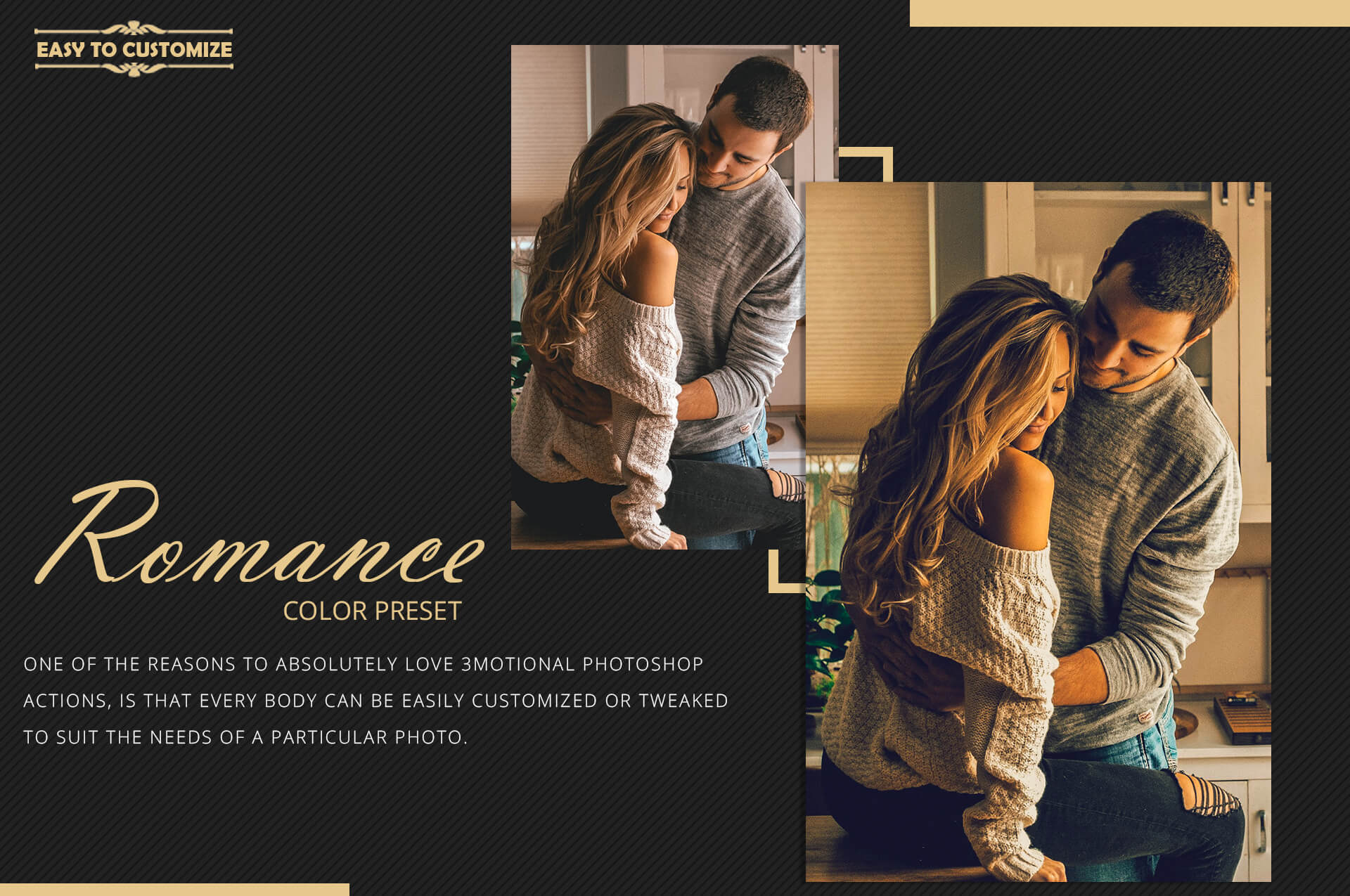 Romance Cinematic Color Grading Photoshop action Filter example image 10