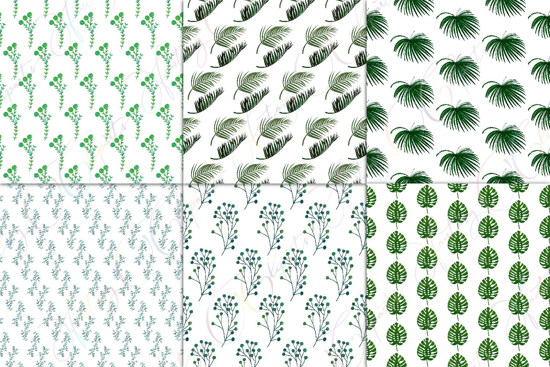 Greenery Digital Paper example image 3
