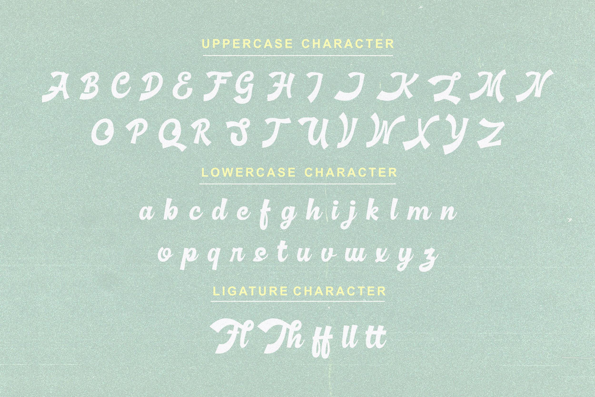 Basuki Script Font example image 9