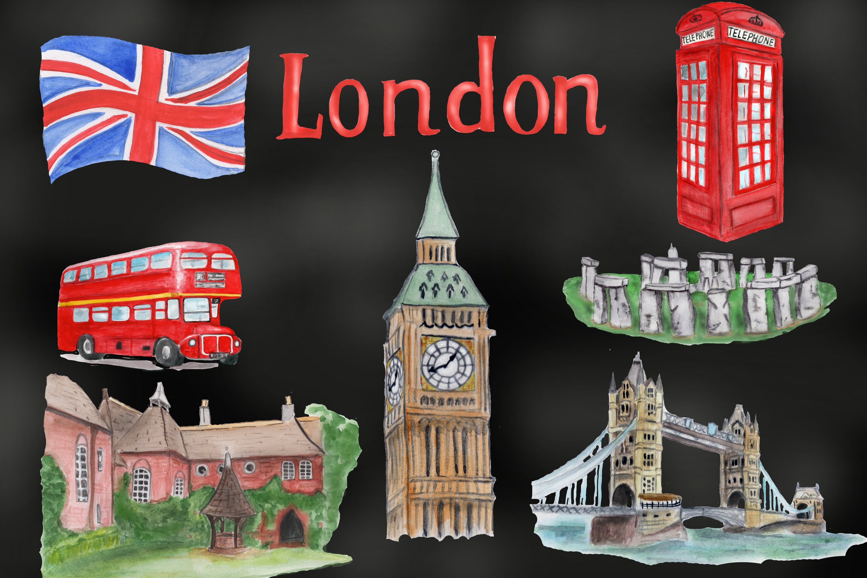 London symbols and landmark clipart Tower bridge, Big Ben example image 4
