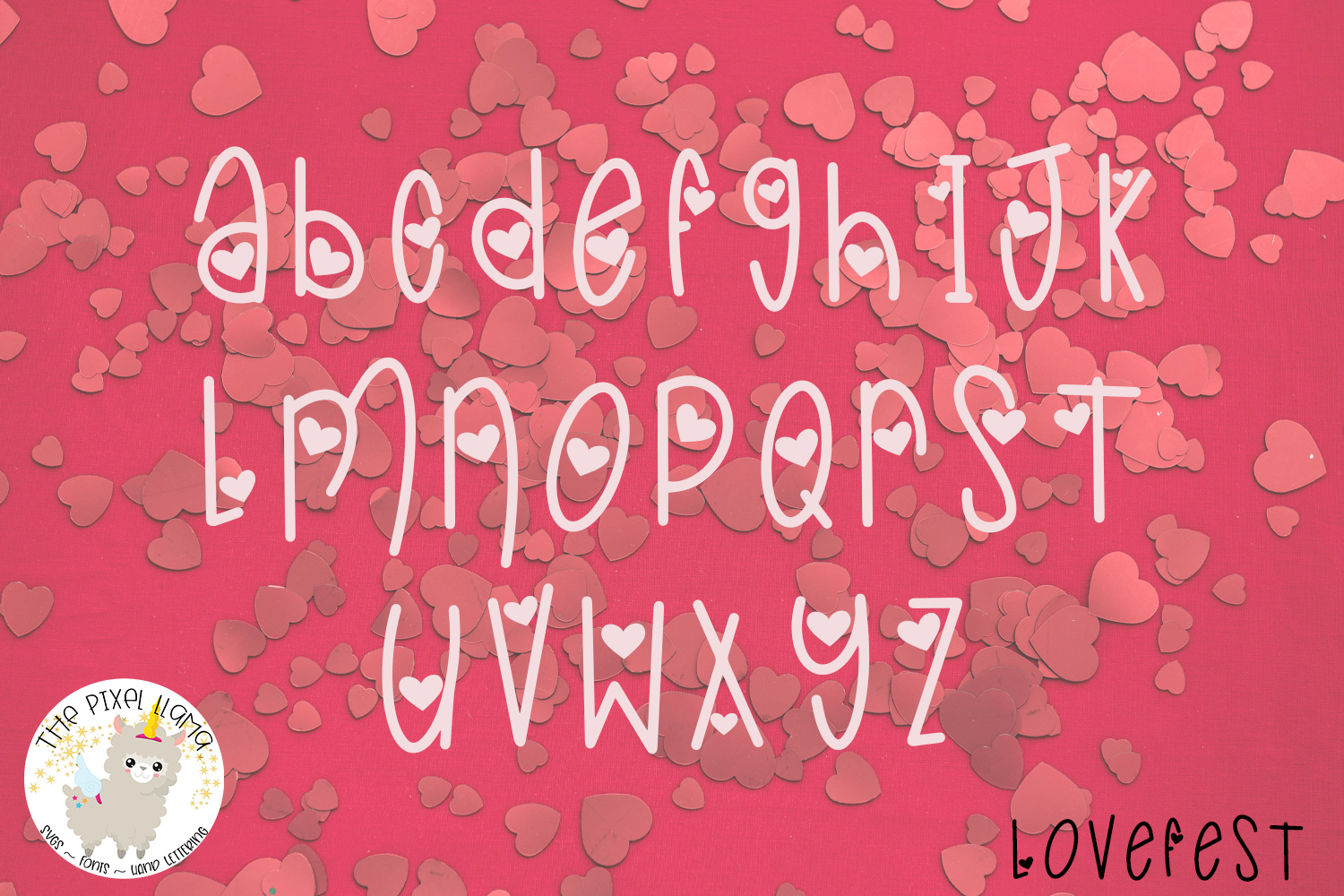 LoveFest A Cute Heart Font example image 4