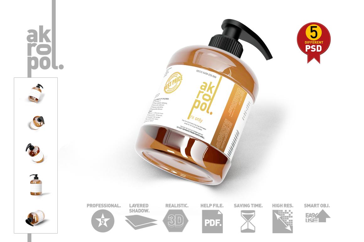 Amber Pump Bottle example image 1