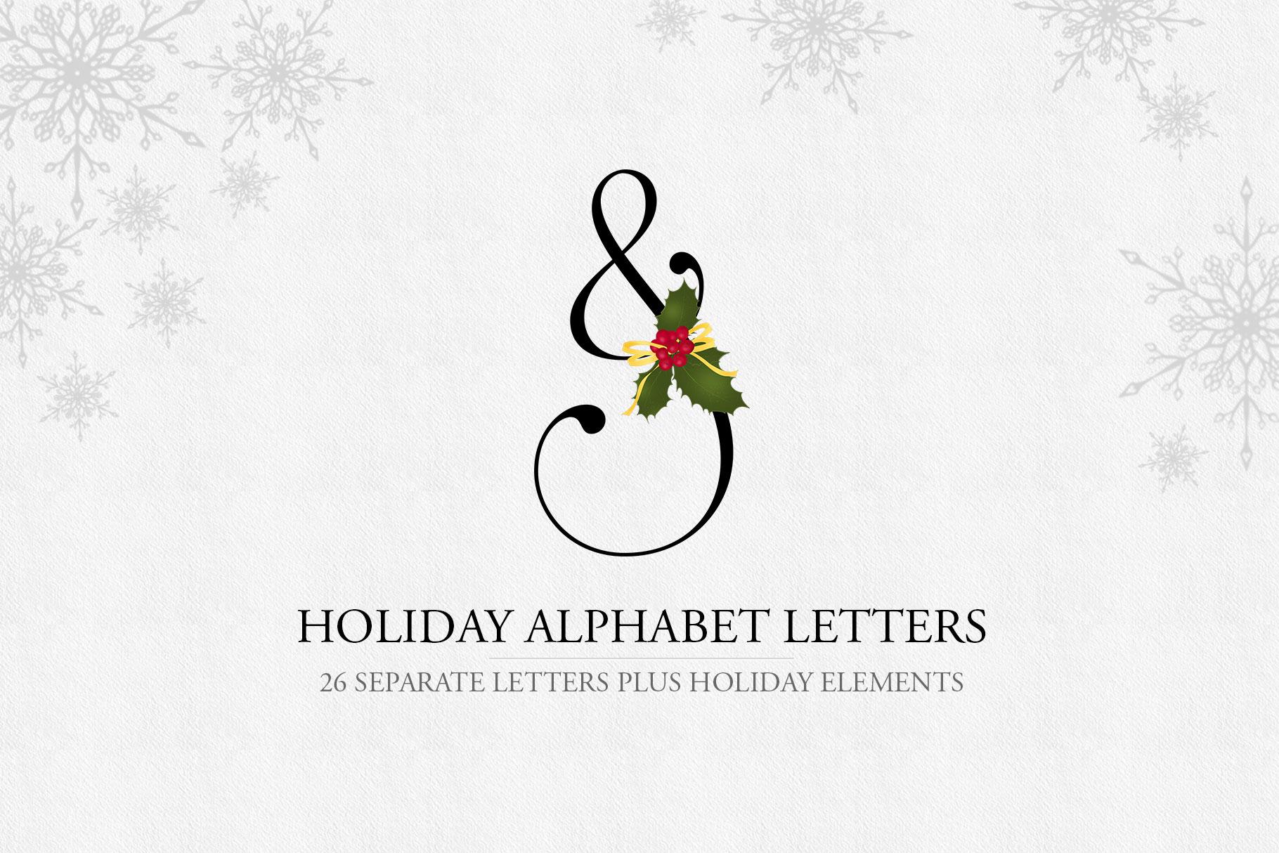 Holiday Alphabet Design Set example image 1