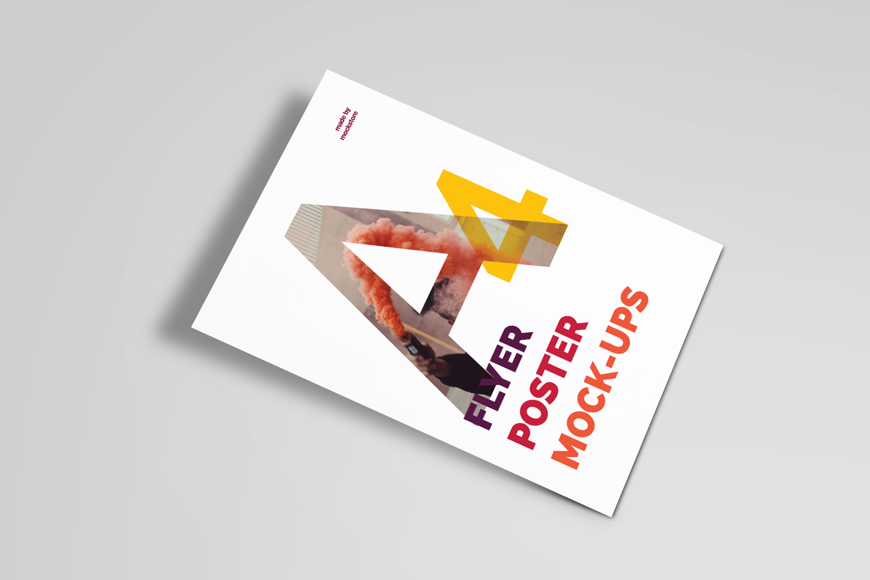 A4 Flyer / Poster Mockups example image 13