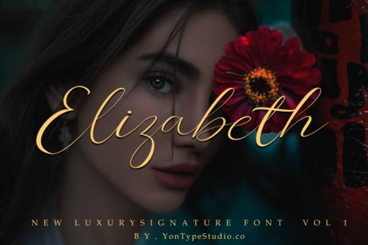 Elizabeth Luxury Signature Font example image 12