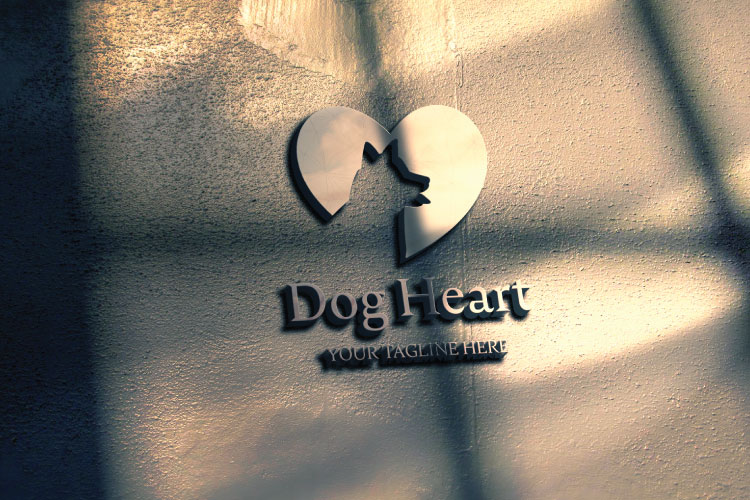 Dog in Heart Logo example image 2
