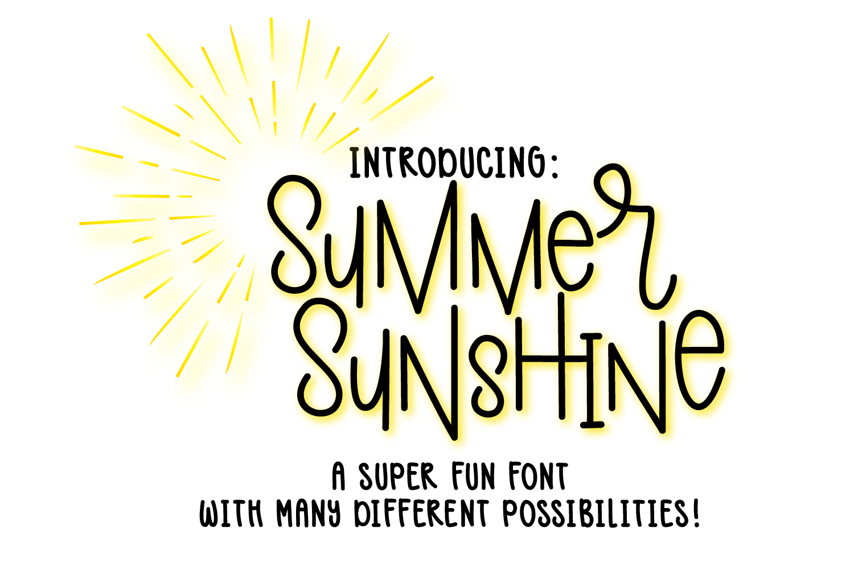 Summer Sunshine Hand Lettered Font  example image 1