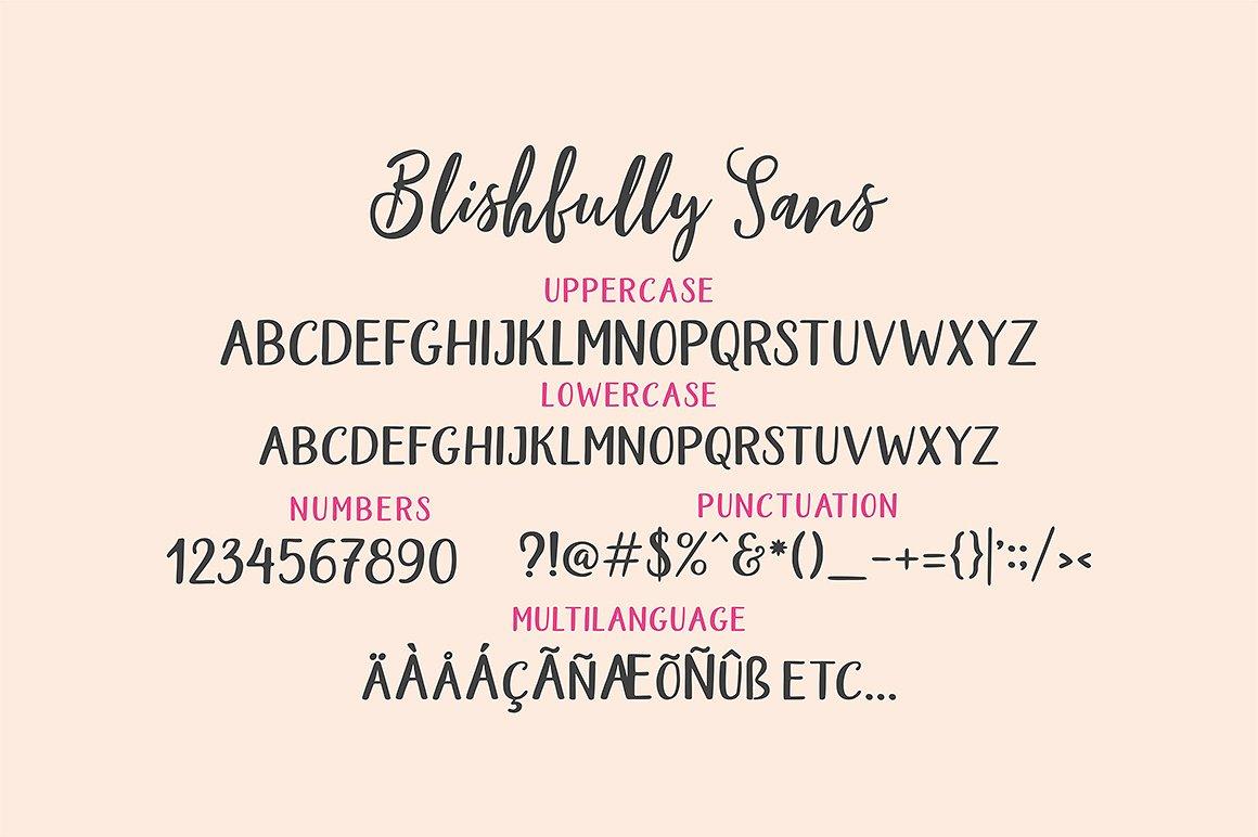 Blishfully Font Duo example image 14
